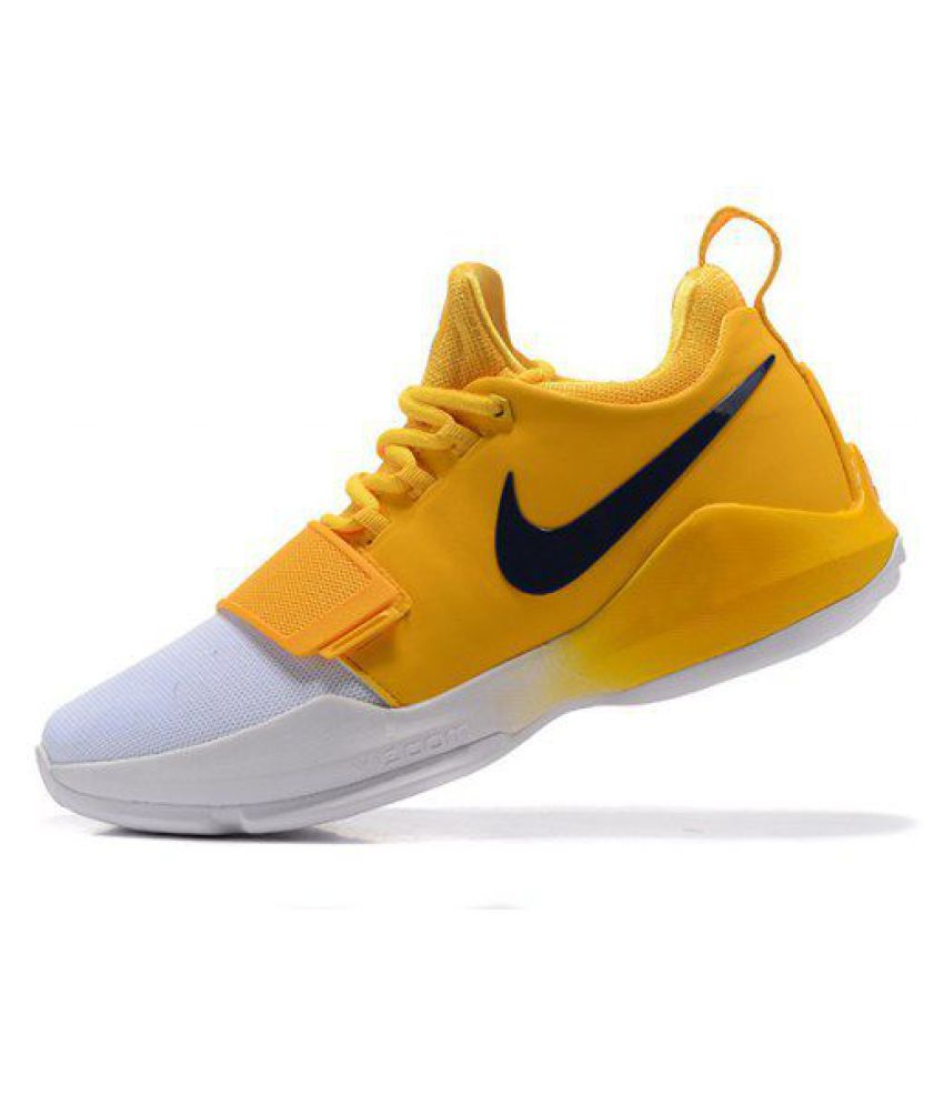 factory authentic d5dd5 e2ed4 Nike Zoom PG 1 White Yellow Basketball Shoes ...