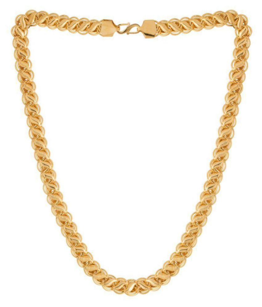 Ziva fashion Chain In Gold Plating For Men