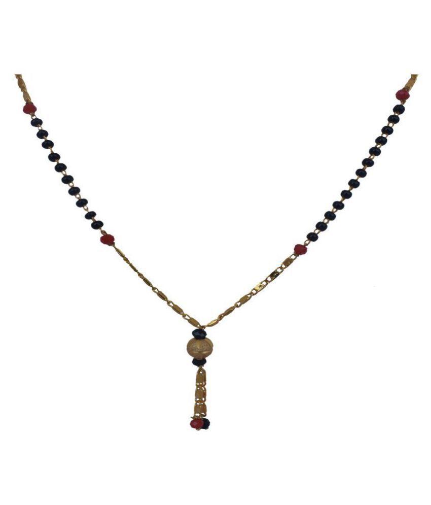 Ami Red Moti Latest Chain Poth Mangalsutra