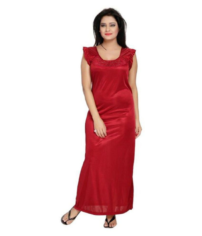 cfd82a6e58 Buy DILJEET Satin Nightsuit Sets - Maroon Online at Best Prices in ...