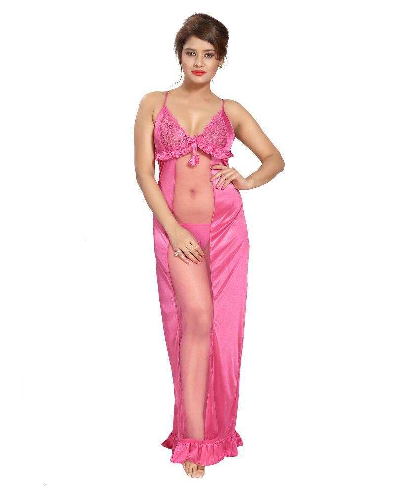 Shopping Station Satin Nighty & Night Gowns - Pink