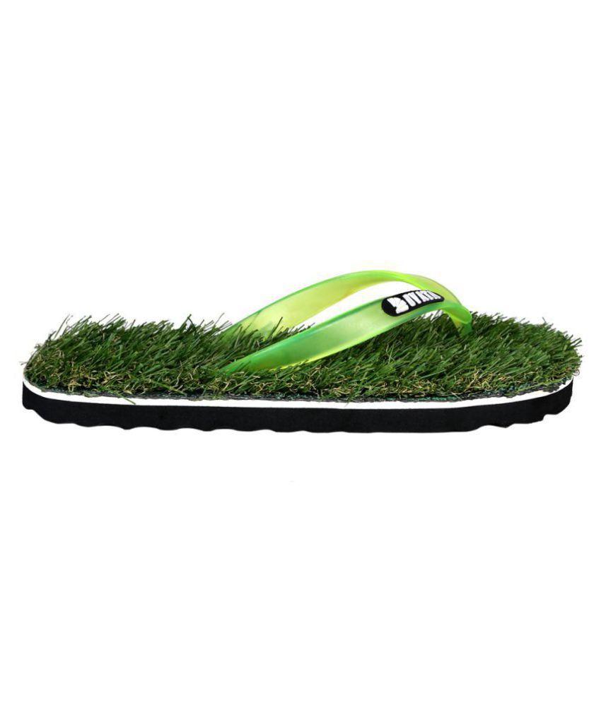 d82b5e1a792d ovata Footwear Men s Grass Slipper Green Daily Slippers Price in ...