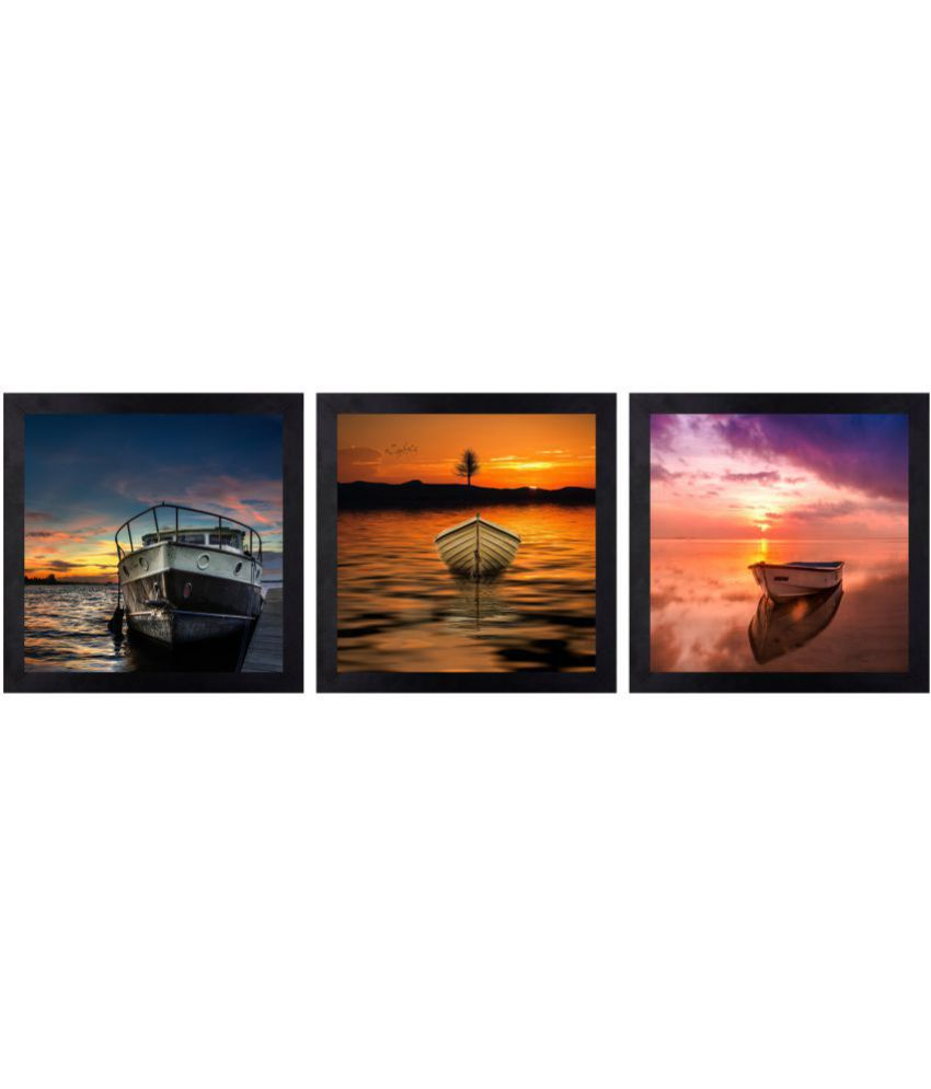 CRAFTSFEST BEAUTIFULL EVENING DIGITAL REPRINT CANVAS PAINTING Canvas Painting With Frame