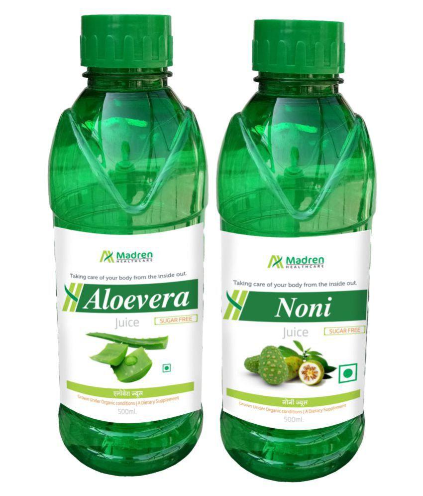 Madren Healthcare Aloevera & Noni Juice Health Drink Liquid 500 ml un flavoured