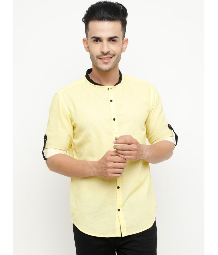 SHOWOFF Yellow Slim Fit Shirt Single