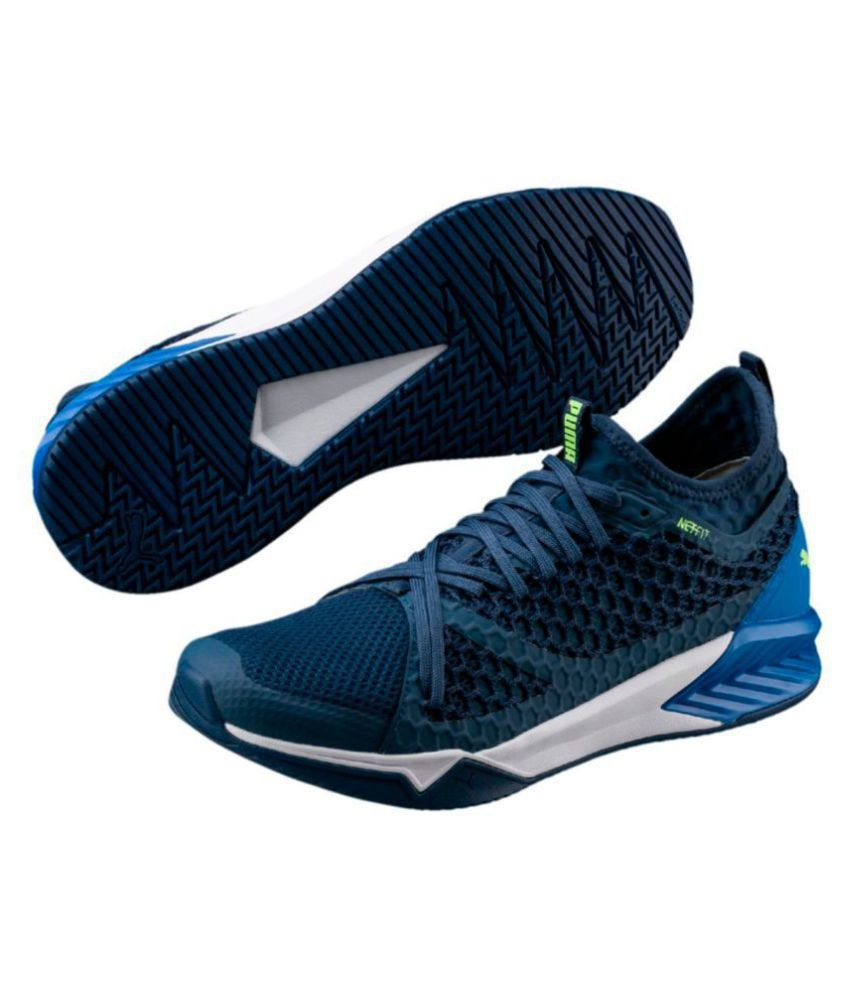 Puma Ignite Xt Netfit Blue Running Shoes - Buy Puma Ignite ...