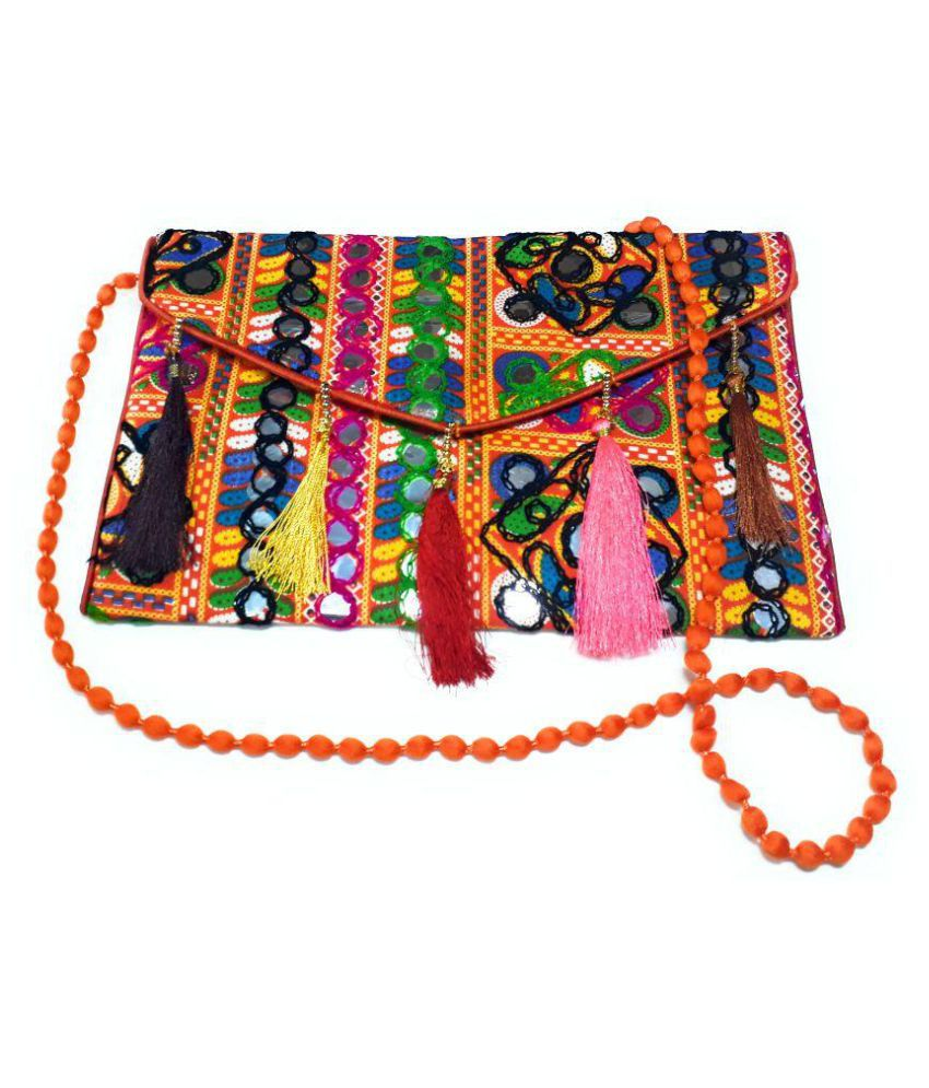 Unique Fashion Purple Cotton Sling Bag