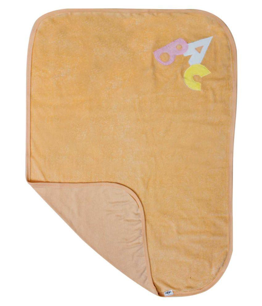 Tumble Beige Cotton Baby Wrap cum blanket ( 93 cm × 63 cm - 1 pcs)