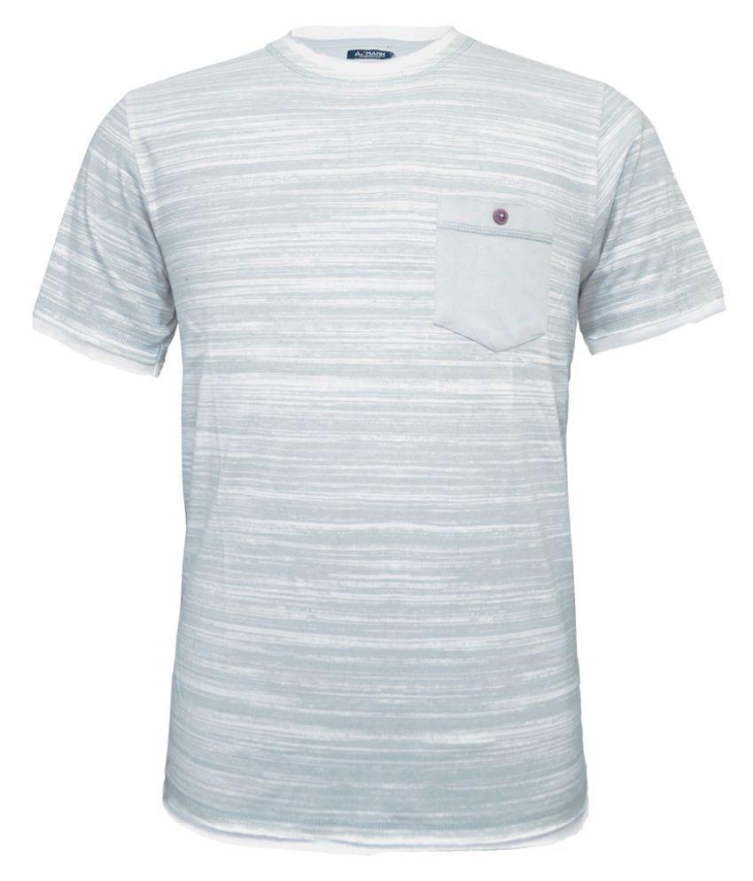 AXMANN White Round T-Shirt