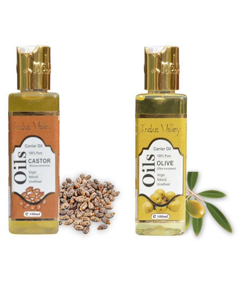 Indus Valley  Natural Castor Oil & Olive Oil For Naturally Thicker Each Pack 100ML