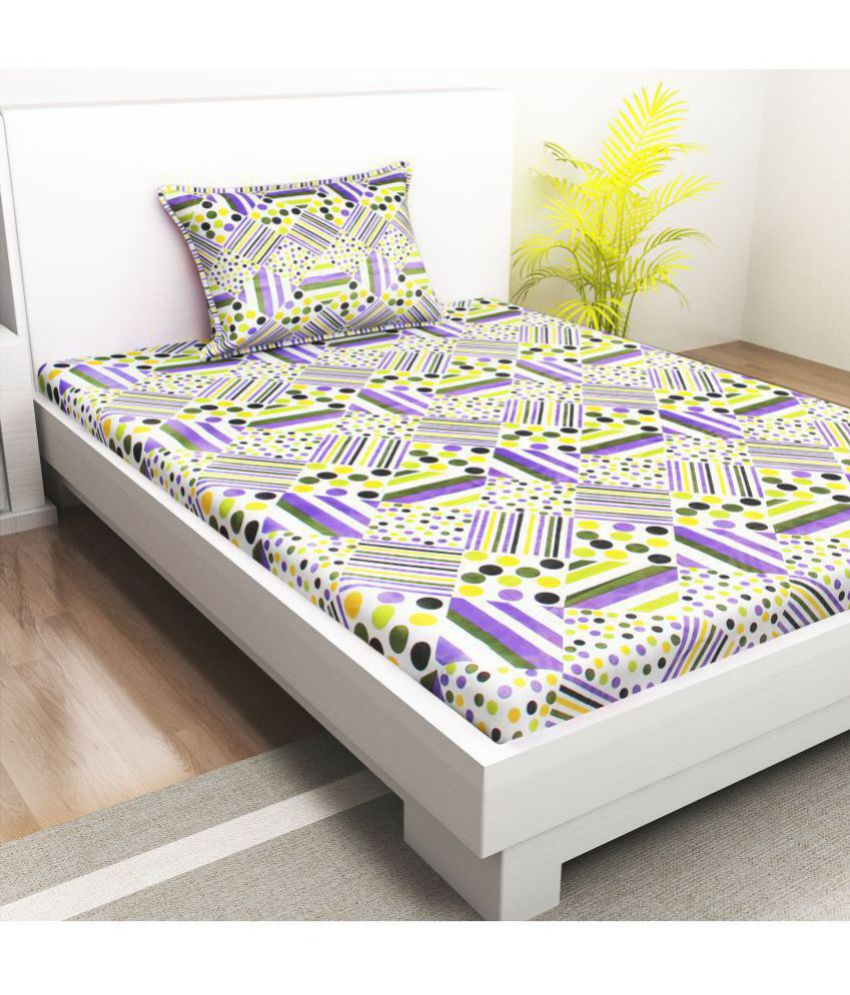 Indiana Home Cotton Single Bedsheet with 1 Pillow Cover