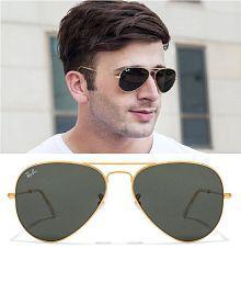 b15f6406b8 Compare   Buy Fashion Black Aviator Sunglasses ( Golden