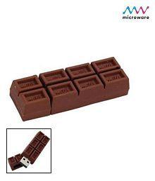 Microware Chocolate Shape Designer 16GB USB 2.0 Fancy Pendrive Pack of 1