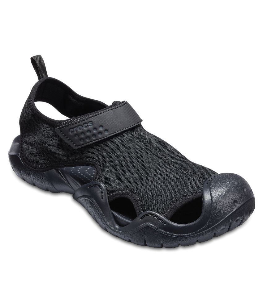 8f6bea144a Crocs Swiftwater Sandal M Black Sandals Price in India- Buy Crocs  Swiftwater Sandal M Black Sandals Online at Snapdeal