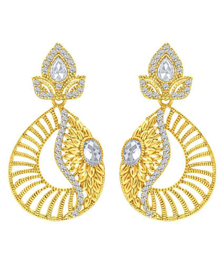 MFJ Fashion Jewellery Designer Collection Colourful Gold Plated Stylish Earring For Women