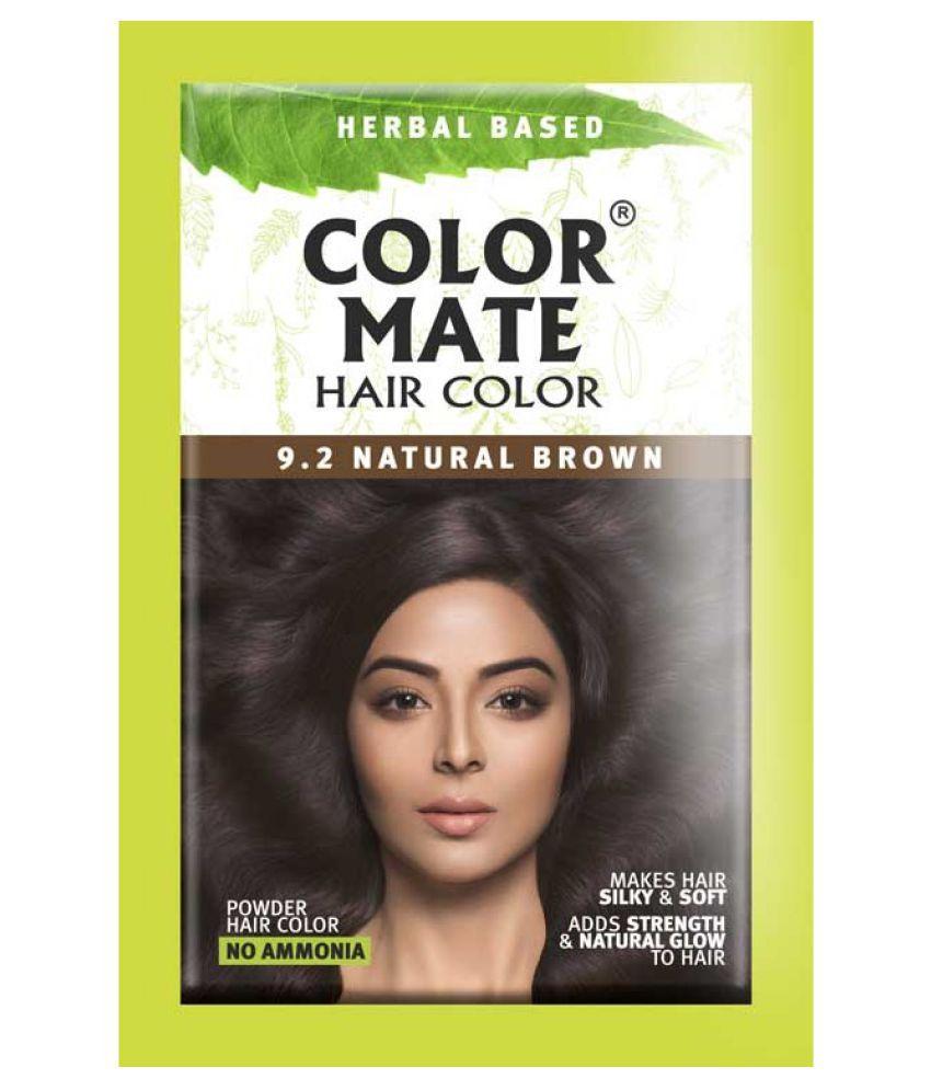 COLOR MATE HAIR COLOR Natural Brown Semi Permanent Hair Color Brown Natural Brown 15 gm Pack of 5