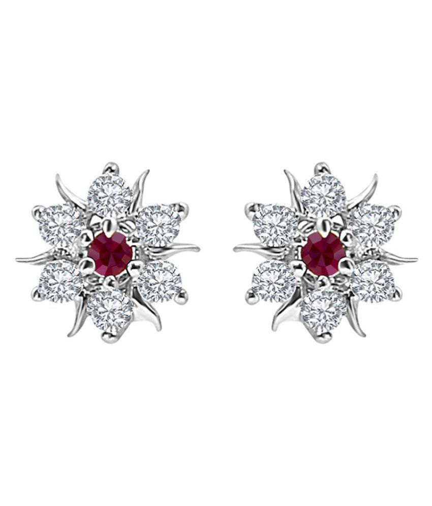 MFJ Fashion Jewellery Daily Wear Fancy Collection CZ Rodium Plated Earrings for Girls and Women