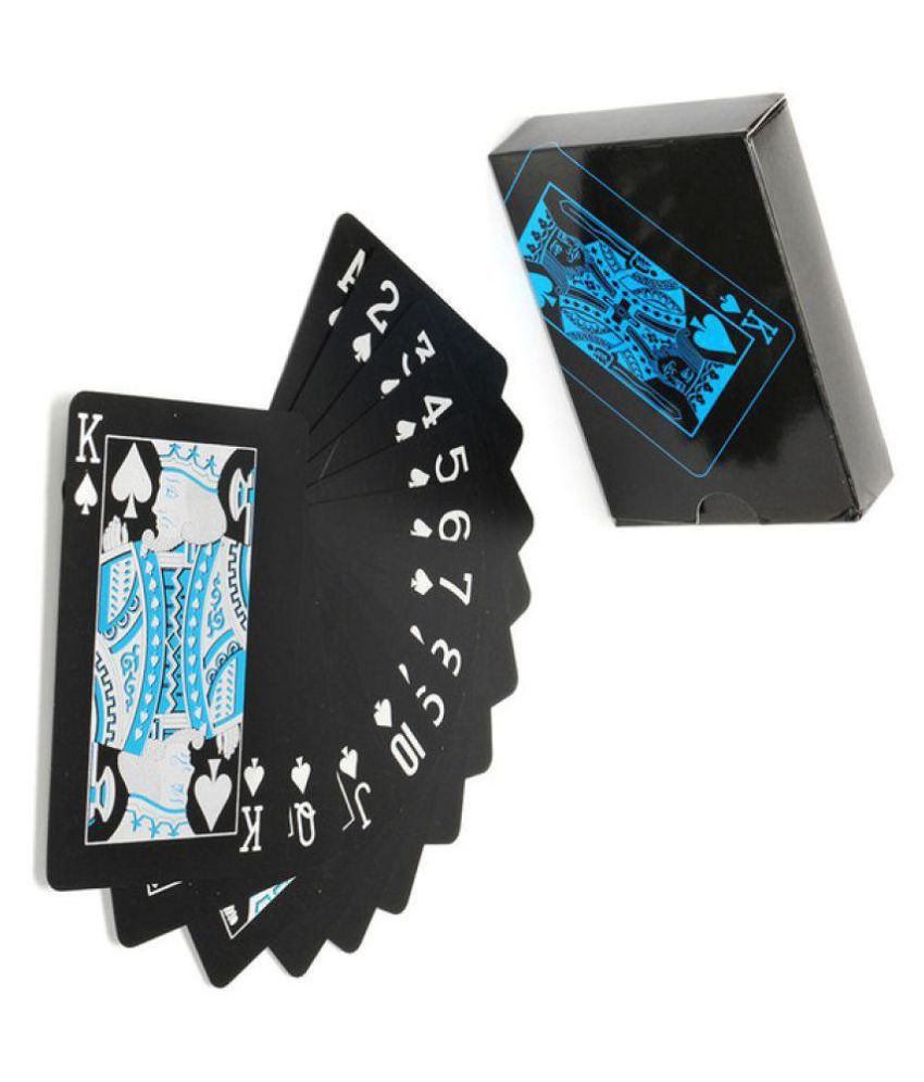 Lucky Traders Black Plastic Playing Cards