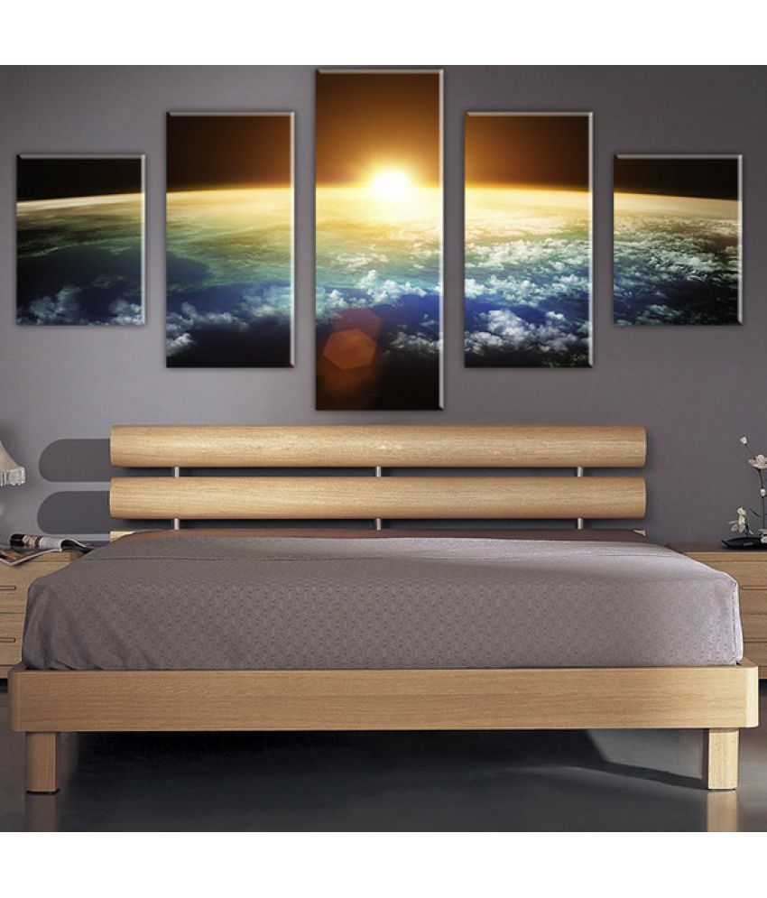 Earth Rise Sun Canvas Painting without Frame AHDCP-49