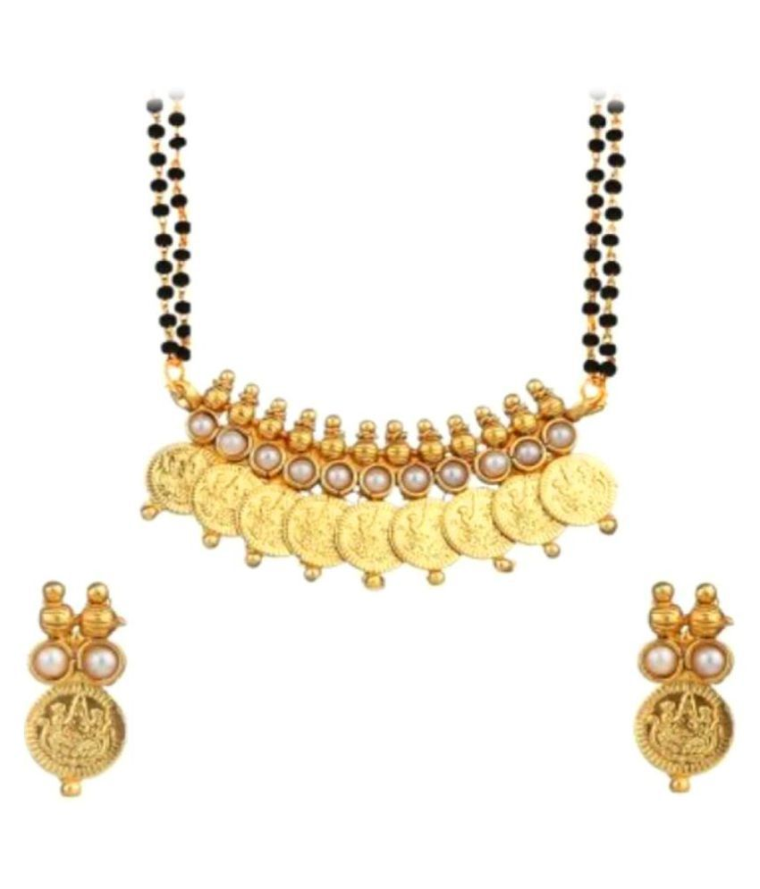 Bandish Golden Mangalsutra Set with Chain (with FREE Antique Chandbali)