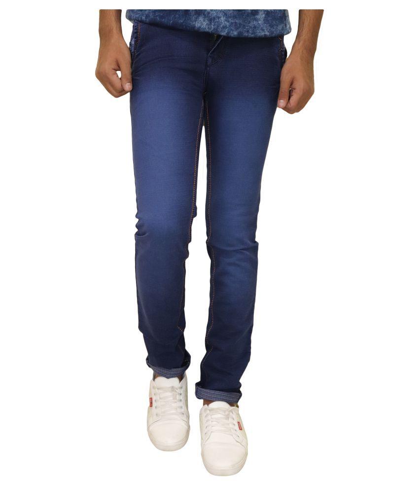 POOL CLUB Dark Blue Slim -Fit Flat Chinos