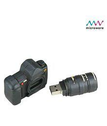 Microware Camera Shape 8GB USB 2.0 Fancy Pendrive Pack of 1