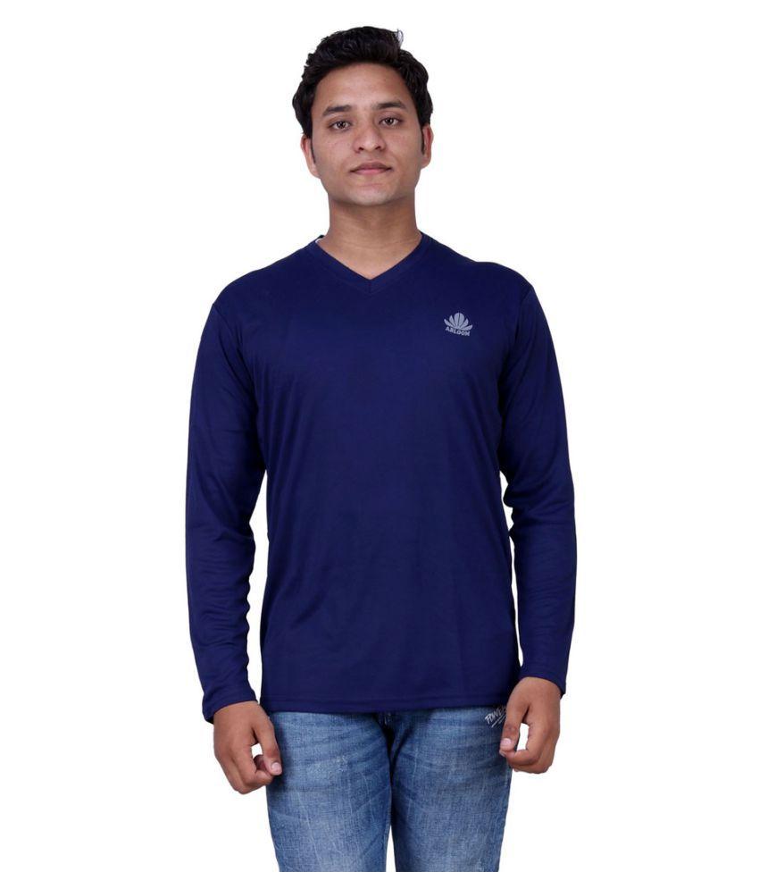 Abloom Navy Round T-Shirt