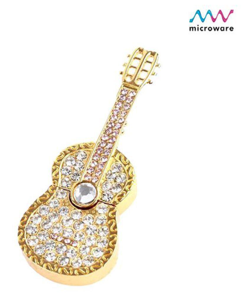 Microware Metal Guitar Shape 4GB USB 2.0 Fancy Pendrive Pack of 1