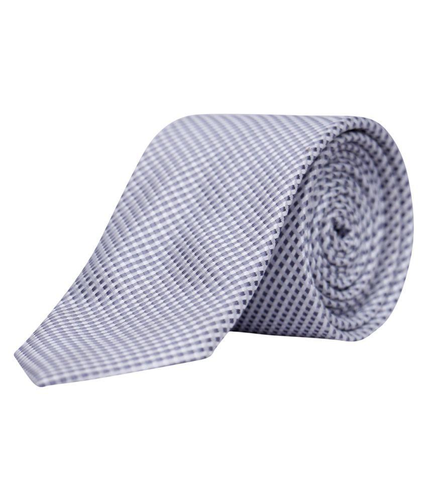 Molessi Silver Printed Polyester Necktie