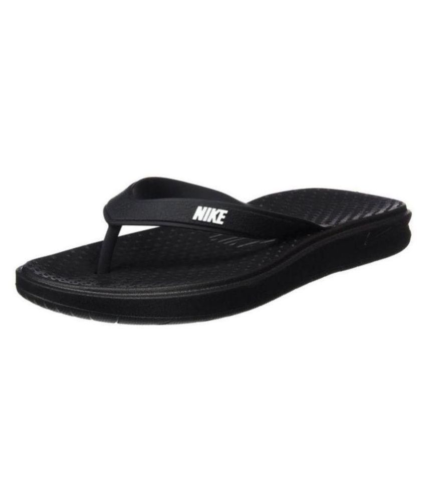 33f8af6b64ad Nike Solay Thong Black Thong Flip Flop Price in India- Buy Nike Solay Thong  Black Thong Flip Flop Online at Snapdeal