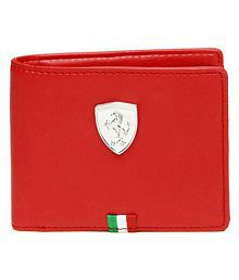 Puma F1 Leather Red Casual Regular Wallet