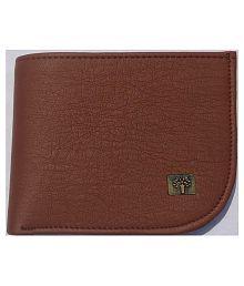 Woodland Imports PU Tan Formal Regular Wallet