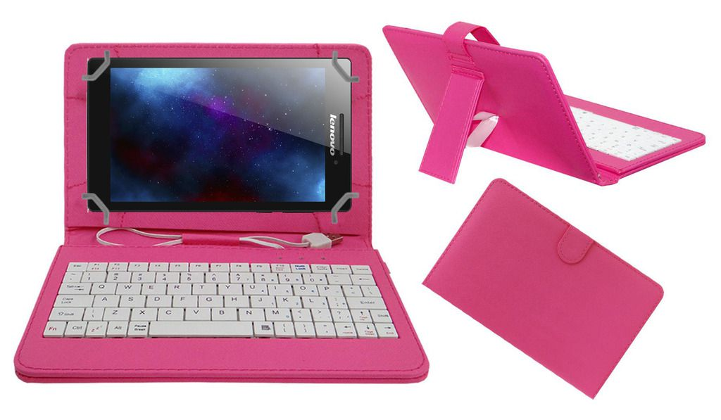 on sale 6e97c 323f3 Acm Usb Keyboard Case for Lenovo Tab 2 A7-10 Tablet Cover Stand - Pink
