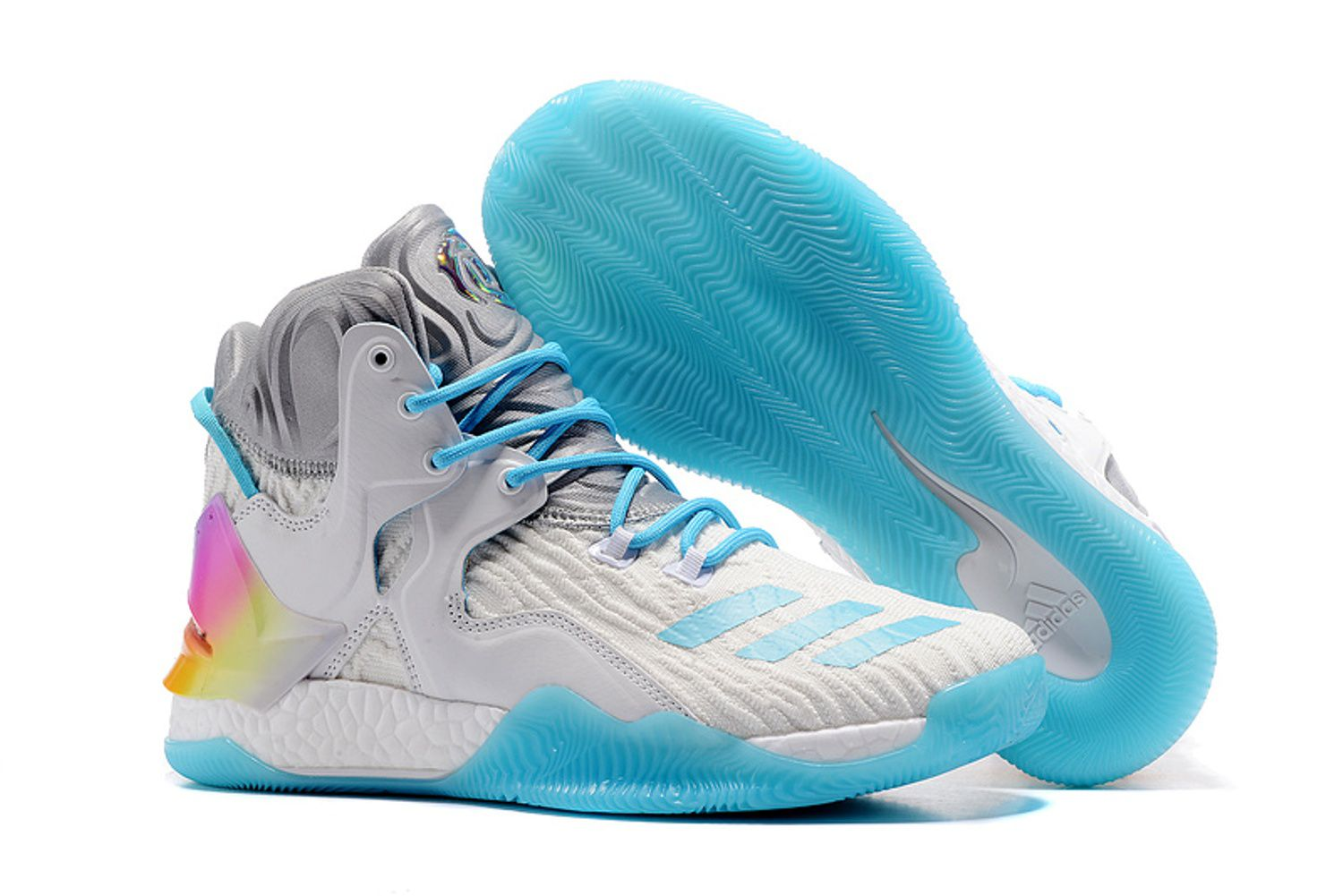 1c9f754fb545 Adidas D ROSE 7 PRIMEKNIT White Basketball Shoes - Buy Adidas D ROSE 7  PRIMEKNIT White Basketball Shoes Online at Best Prices in India on Snapdeal
