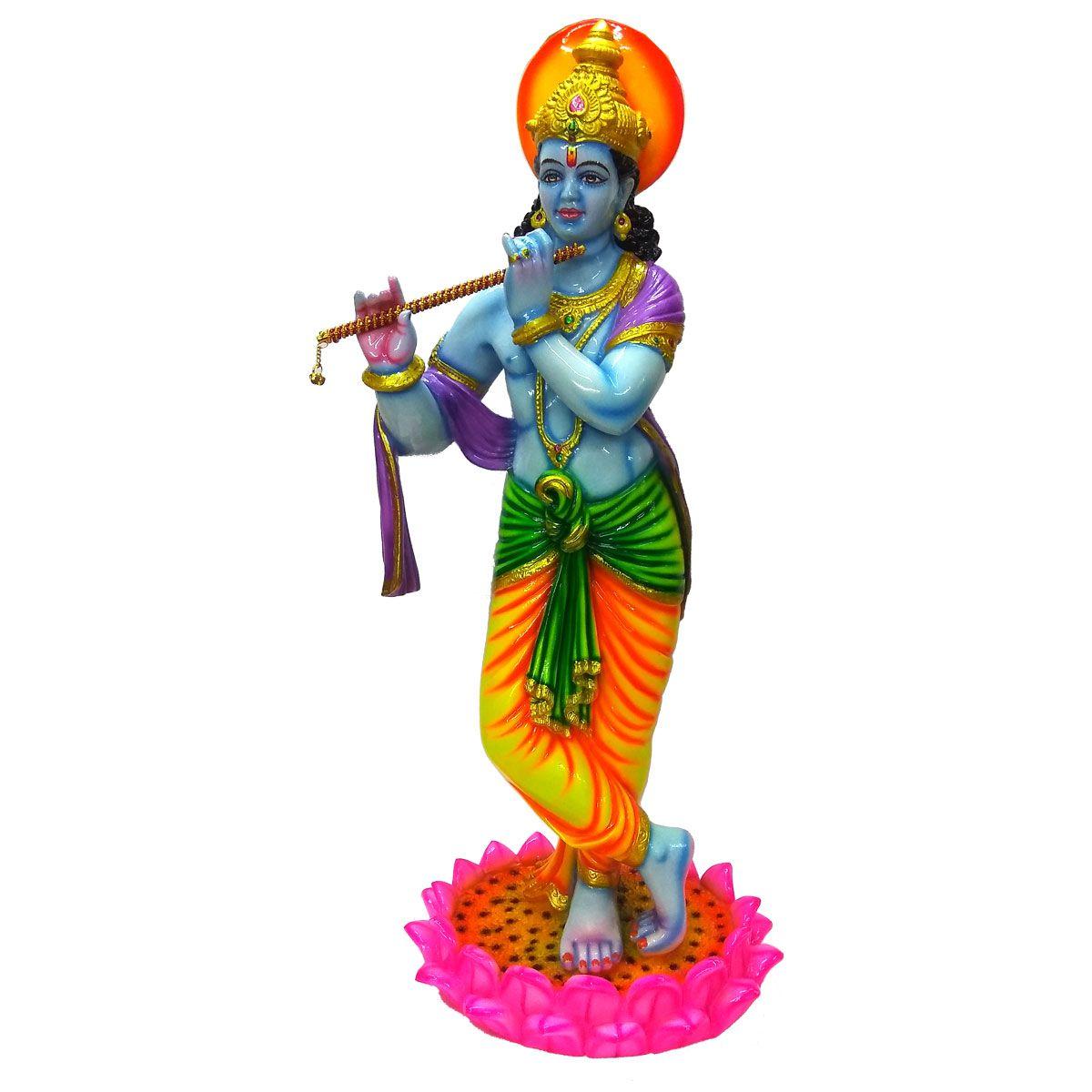 VIDHI ARTS Krishna Polyresin Idol
