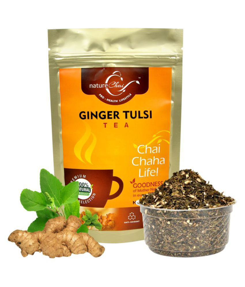 nature Chai Ginger Tulsi Tea Loose Leaf 100 gm