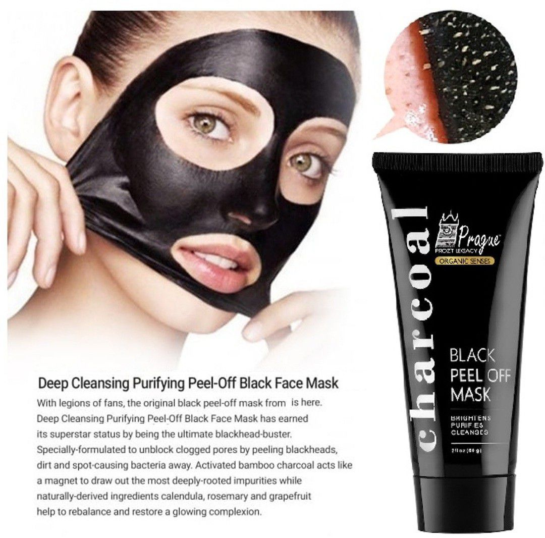 prague activated charcoal peel off black mask deep skin cleansing rh snapdeal com