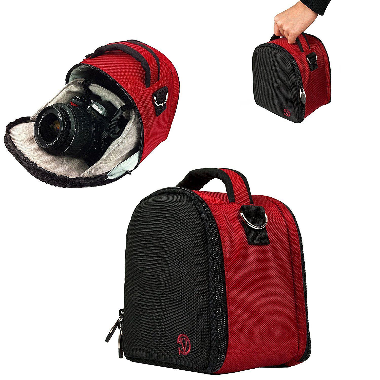 HOT RED VanGoddy Laurel pact DSLR & SLR HD Digital Camera Pouch Bag fits Nikon D7100 D7000 D5300 D5200 D5100 D5000
