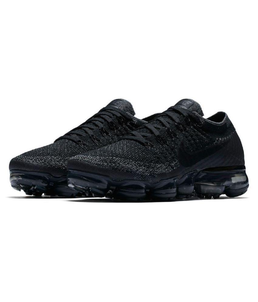 fd73ebf5ddcfa Nike Vapormax 2018 Black Running Shoes Nike Vapormax 2018 Black Running  Shoes ...