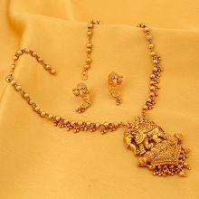 Sukkhi Elephant Matte Finished Necklace Set for Women