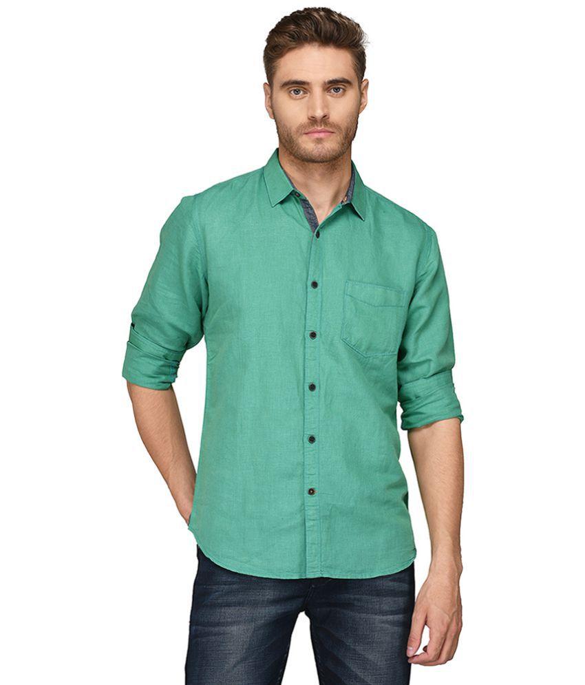 JadeBlue Green Slim Fit Shirt Single