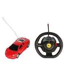 Planet of Toys Steering Wheel Remote Control 1:22 Scale Single Function Mini Lamborghini Car. For Kids, Children