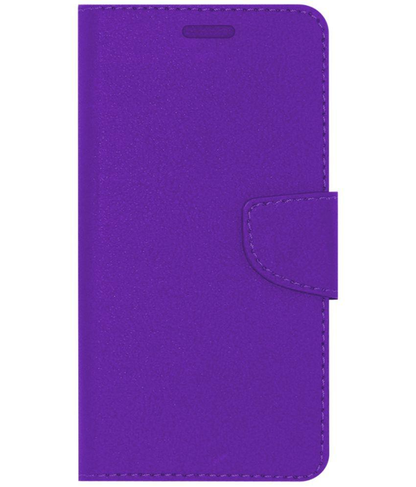 newest e3fae ef33a Itel A41 Plus Flip Cover by ACM - Purple