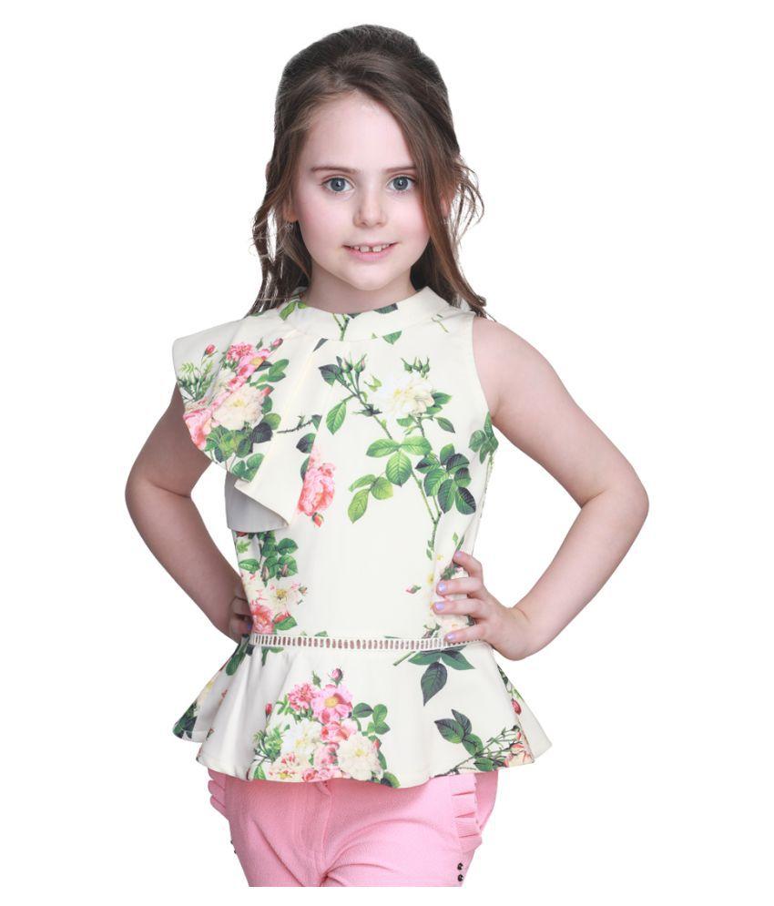Cutecumber Girls Partywear Crepe Top