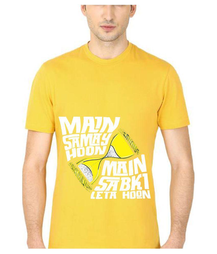 Decot Paradise Yellow Round T-Shirt