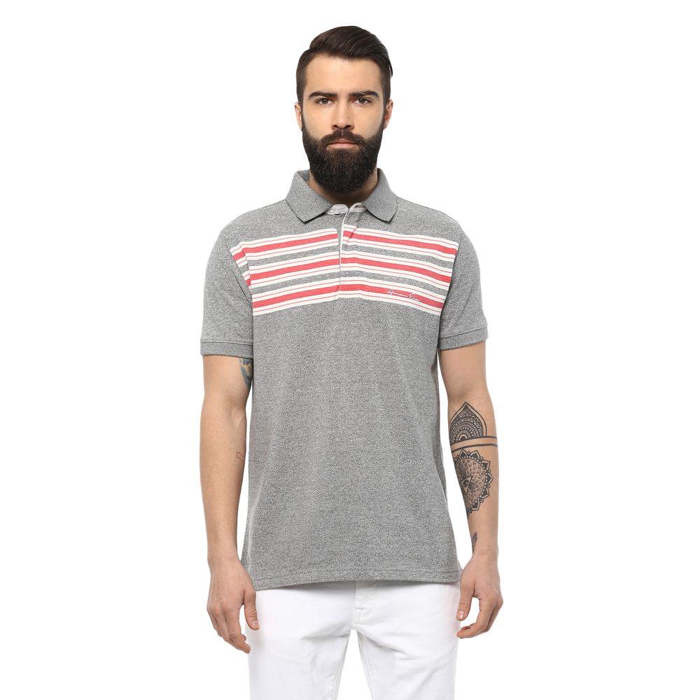 AXMANN Grey High Neck T-Shirt