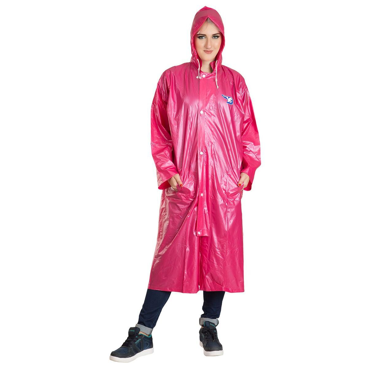 Burdy Polyester Long Raincoat - Pink
