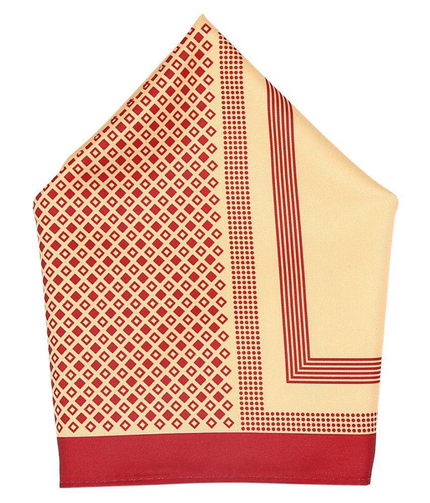 Zido Multicolor Pocket Square for Men PSQ216