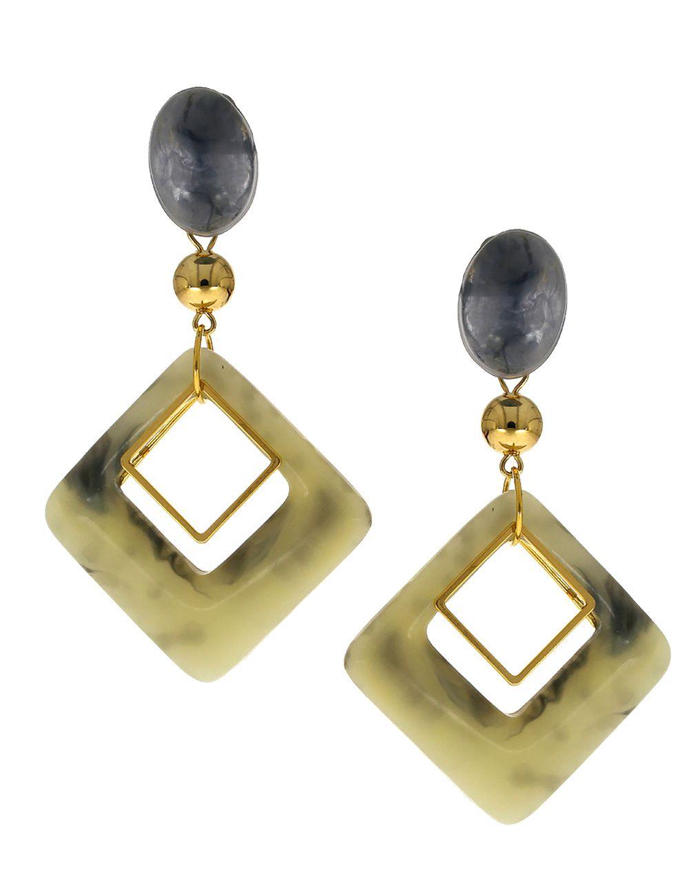 Anuradha Art Grey Colour Party Wear Designer Fancy Long Earrings For Women/Girls