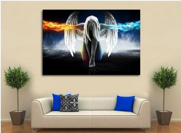 Fire Angel Canvas Painting without Frame AHDCP-x55